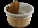 Exclusive Hottub Interne kachel / Kristal wit / Red Cedar houten