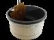 Exclusive Hottub Interne kachel / Graniet zwart / Vurenhouten