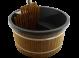 Exclusive Hottub Interne kachel / Graniet zwart / Thermowood