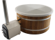 Exclusive Hottub Externe kachel / Kristal wit / Thermowood