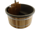 Exclusive Hottub Interne kachel / Beige / Red Cedar houten