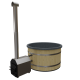 Premium Hottub Externe kachel / Graniet zwart / Vurenhout